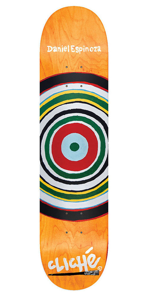 Cliche Daniel Espinoza Painter Series R7 - Orange - 8.25 - Skateboard Deck