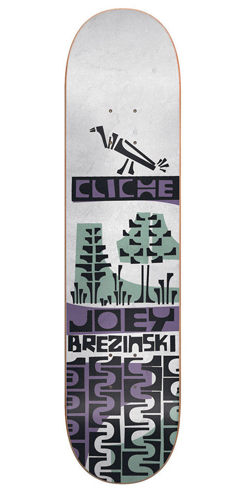 Cliche Joey Brezinski Grip Art Series R7 - White - 8.1 - Skateboard Deck