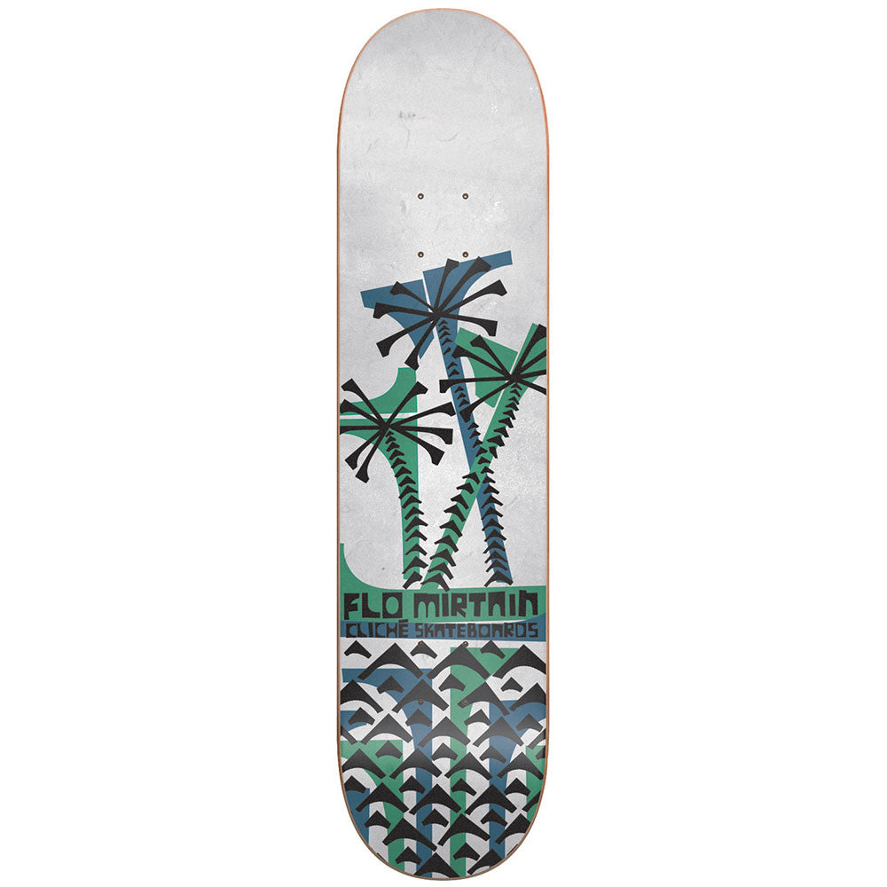 Cliche Flo Mirtain Grip Art Series R7 - White - 8.25 - Skateboard Deck