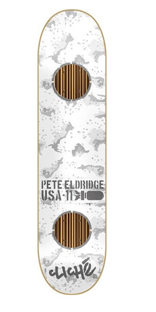 Cliche Camo Impact Eldridge - Grey Camo/Grey - 7.9in - Skateboard Deck