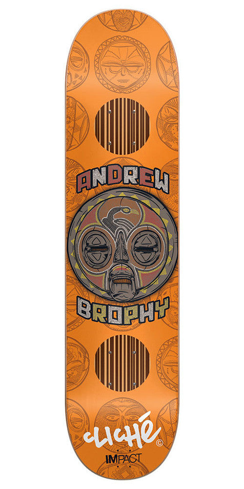 Cliche Andrew Brophy Mask Series Impact - Orange - 8.25in - Skateboard Deck