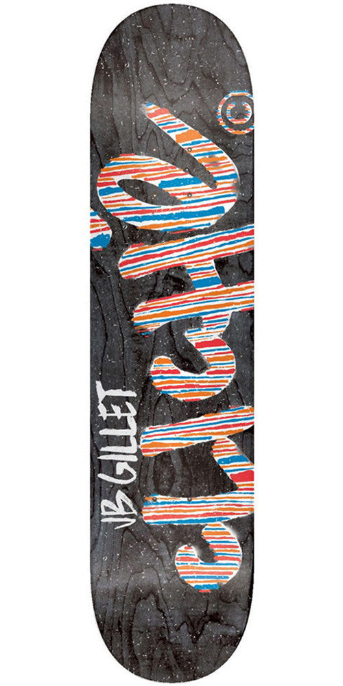 Cliche JB Gillet Stripes Series R7 - Black - 7.75in - Skateboard Deck