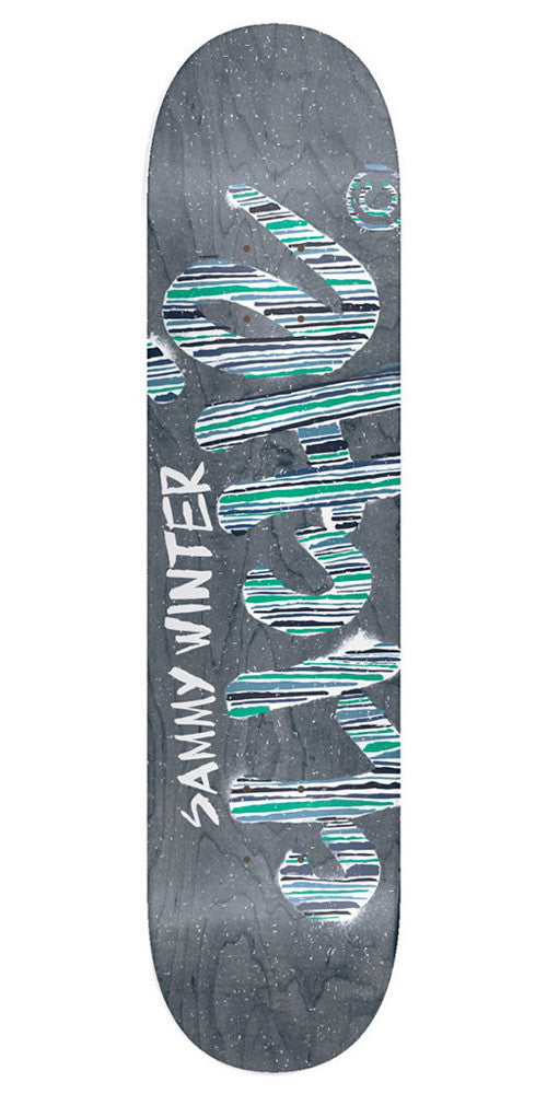 Cliche Sammy Winter Stripes Series R7 - Grey - 8.375in - Skateboard Deck