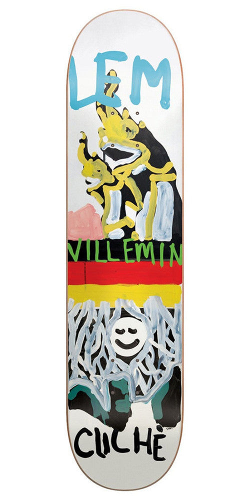 Cliche Lem Villemin Brabs Paint R7 - White - 8.0in - Skateboard Deck