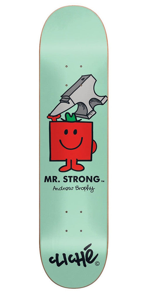 Cliche Andrew Brophy Mr. Men R7 - Green - 8.5in - Skateboard Deck