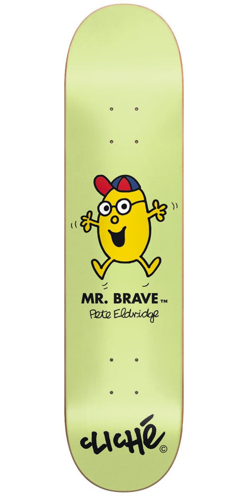 Cliche Pete Eldridge Mr. Men R7 - Green - 8.375in - Skateboard Deck