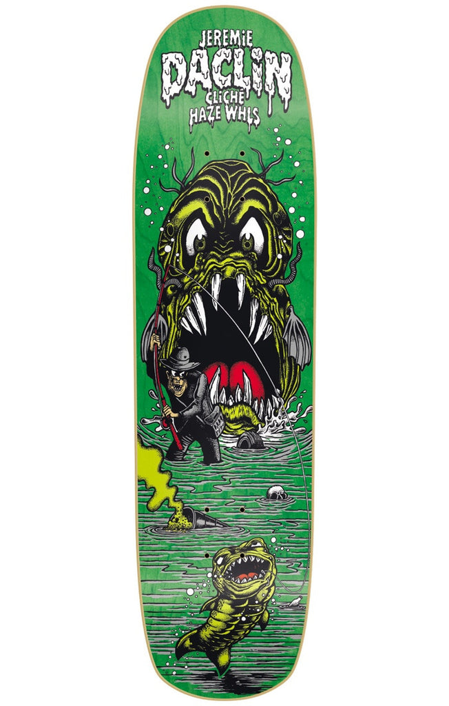 Cliche Haze J. Daclin R7 - Green - 8.375in - Skateboard Deck