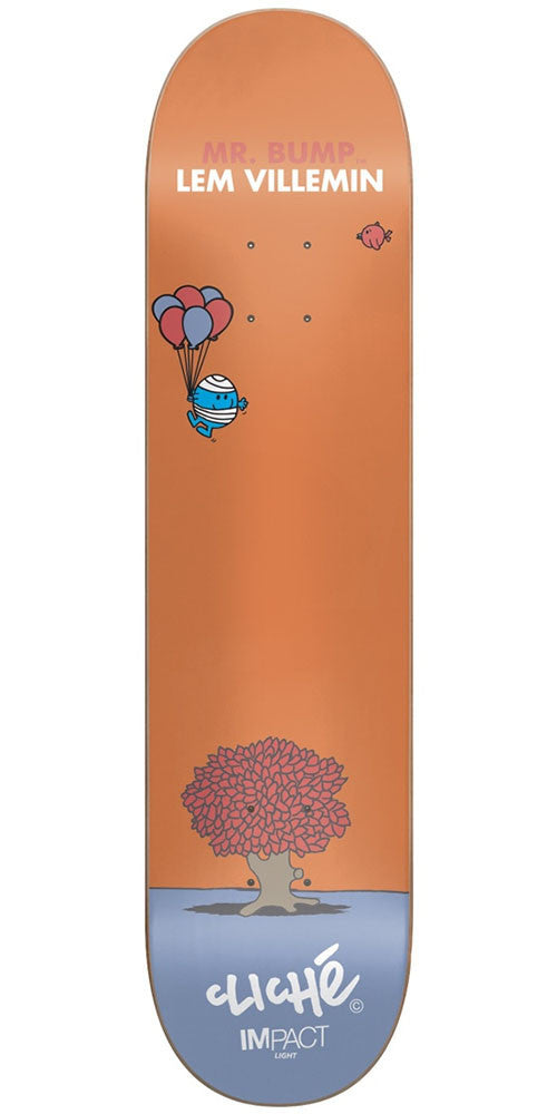 Cliche Lem Villemin Mr. Men IL - Orange - 7.75in - Skateboard Deck