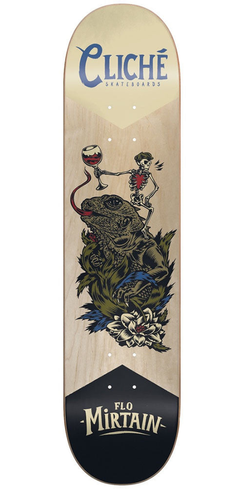 Cliche Flo Mirtain Swanski R7 - Natural - 8.0in - Skateboard Deck