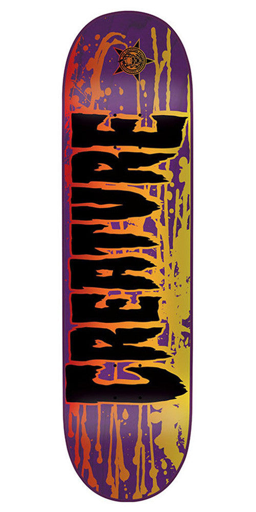 Creature Reverse Stain MD - Purple - 31.7in x 8.26in - Skateboard Deck