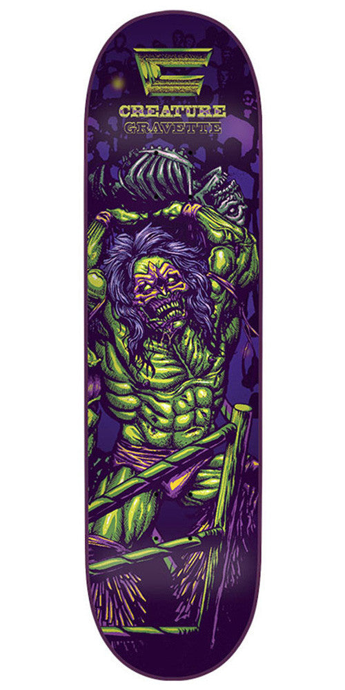 Creature Creaturemania Gravette - Purple - 31.7in x 8.26in - Skateboard Deck