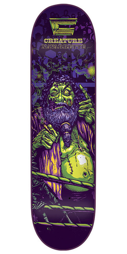 Creature Creaturemania Navarrette - Purple - 32.5in x 8.6in - Skateboard Deck