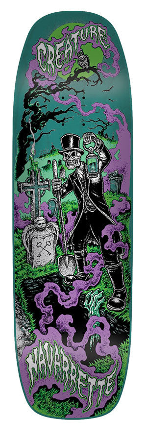 Creature Navarrette Gravedigger - Green/Purple - 32.57in x 8.8in - Skateboard Deck