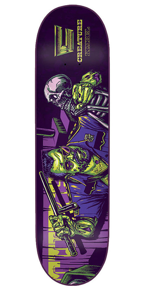 Creature Creaturemania Kimbel - Purple/Green - 32.5in x 8.8in - Skateboard Deck