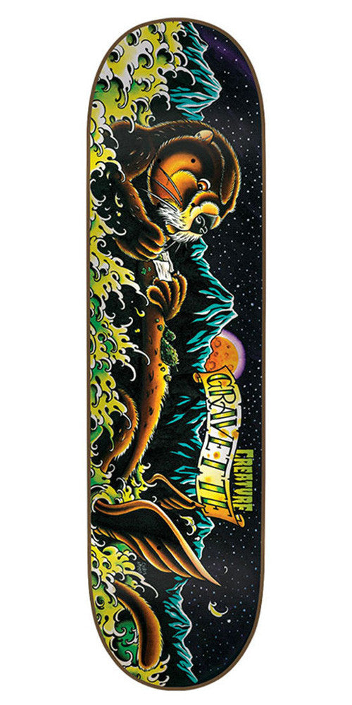 Creature Gravette Weedotter - Black - 31.9in x 8.2in - Skateboard Deck