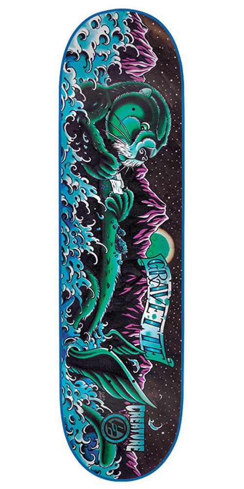 Creature Gravette Weedotter P2 - Black - 32.35in x 8.6in - Skateboard Deck
