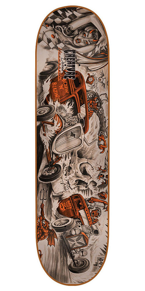 Creature Navarrette Strait To Hell - Orange - 32.35in x 8.6in - Skateboard Deck