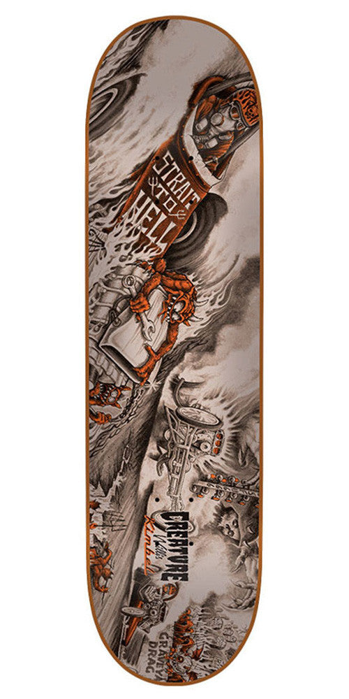 Creature Kimbel Strait To Hell - Orange - 33.0in x 9.0in - Skateboard Deck