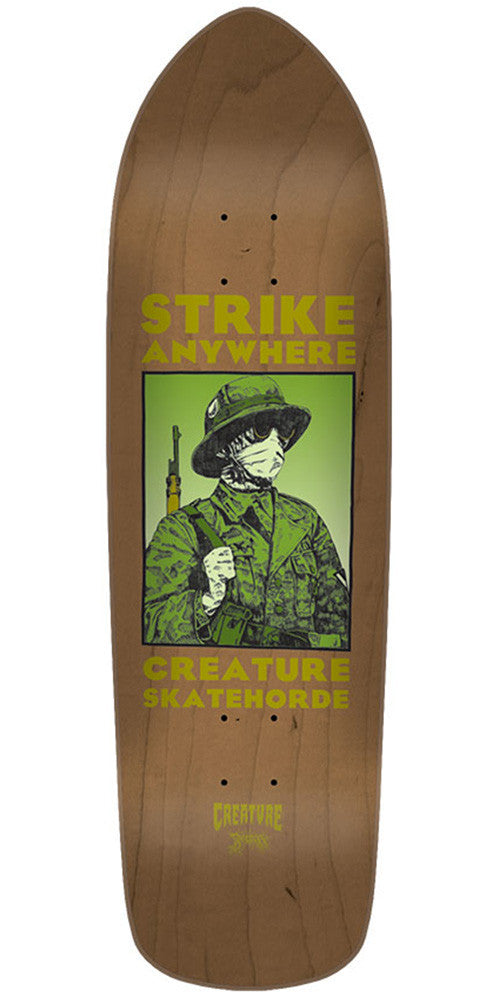 Creature Anza Strike Team - Brown - 32.25in x 8.5in - Skateboard Deck
