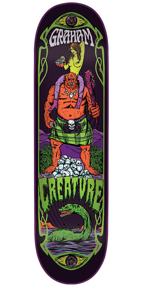 Creature Graham Hesh Trippers Pro - Multi - 33.0in x 9.0in - Skateboard Deck