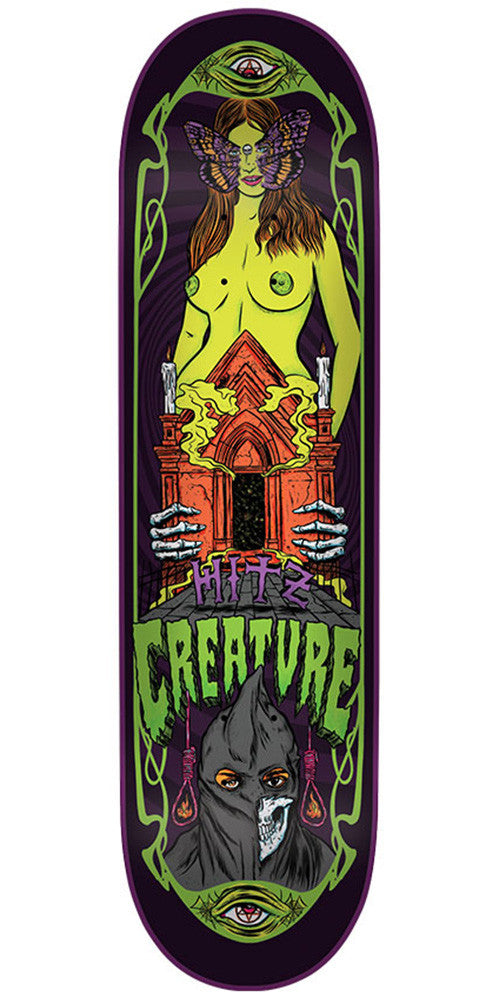 Creature Hitz Hesh Trippers Pro - Multi - 32.3in x 8.6in - Skateboard Deck