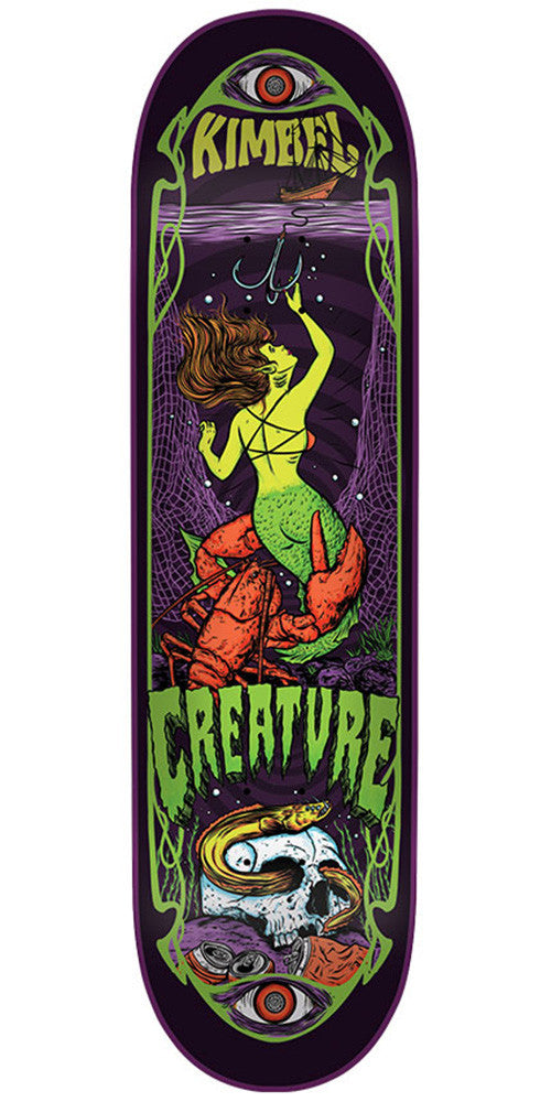 Creature Kimbel Hesh Trippers Pro - Multi - 32.5in x 8.8in - Skateboard Deck