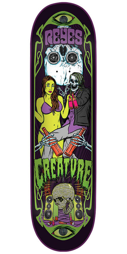 Creature Reyes Hesh Trippers Pro - Multi - 31.6in x 8.0in - Skateboard Deck