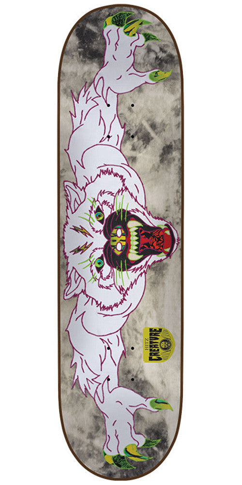 Creature Hitz Venom Stitches Pro - White - 32.25in x 8.5in - Skateboard Deck