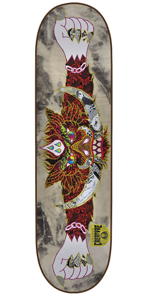 Creature Graham Venom Stitches Pro - Red - 33.0in x 9.0in - Skateboard Deck