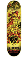 Creature Kimbel Circus Of The Damned Pro - Yellow - 33.0in x 9.0in - Skateboard Deck