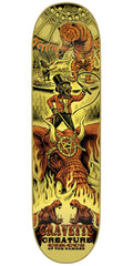 Creature Gravette Circus Of The Damned Pro - Yellow - 31.7in x 8.26in - Skateboard Deck