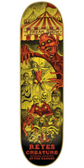 Creature Reyes Circus Of The Damned Pro - Yellow - 31.6in x 8.0in - Skateboard Deck