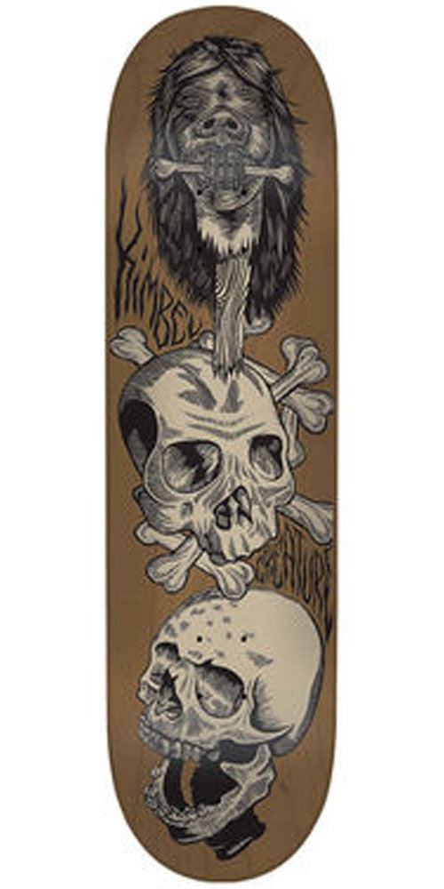 Creature Kimbel Shrunken Head Pro - Brown - 33.0in x 9.0in - Skateboard Deck