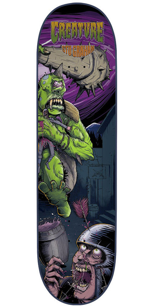 Creature Graham Ogre2 Pro - Multi - 33.0in x 9.0in - Skateboard Deck