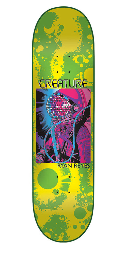 Creature Reyes Cosmonaut Pro - Green/Yellow - 31.6in x 8.0in - Skateboard Deck