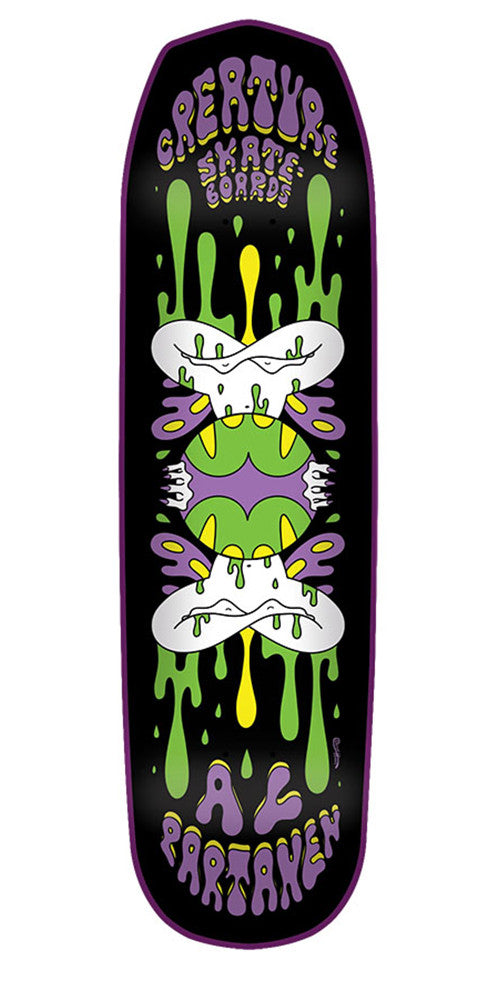 Creature Partanen Shakra LG Pro - Black - 32.325in x 8.6in - Skateboard Deck
