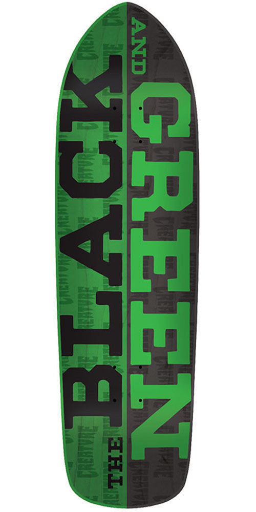 Creature Black & Green Team - Black/Green - 32.25in x 8.5in - Skateboard Deck