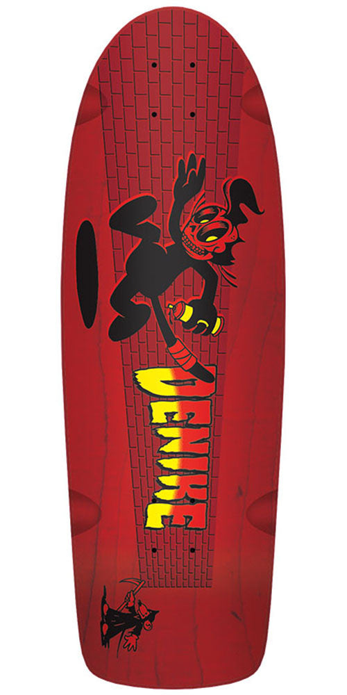 Creature Denike Fiend Cat Reissue - Red - 30.05in x 10.44in - Skateboard Deck