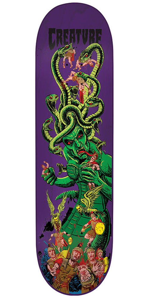 Creature Stumps Medusa Team - Purple - 8.8in x 32.55in - Skateboard Deck