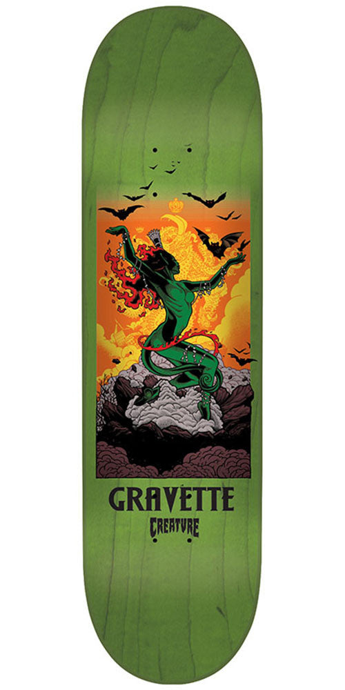 Creature Gravette Viscerous Pro - Green - 8.25in x 32.04in - Skateboard Deck