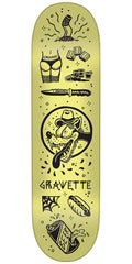 Creature Gravette Tanked Pro - Yellow - 8.2in x 31.9in - Skateboard Deck
