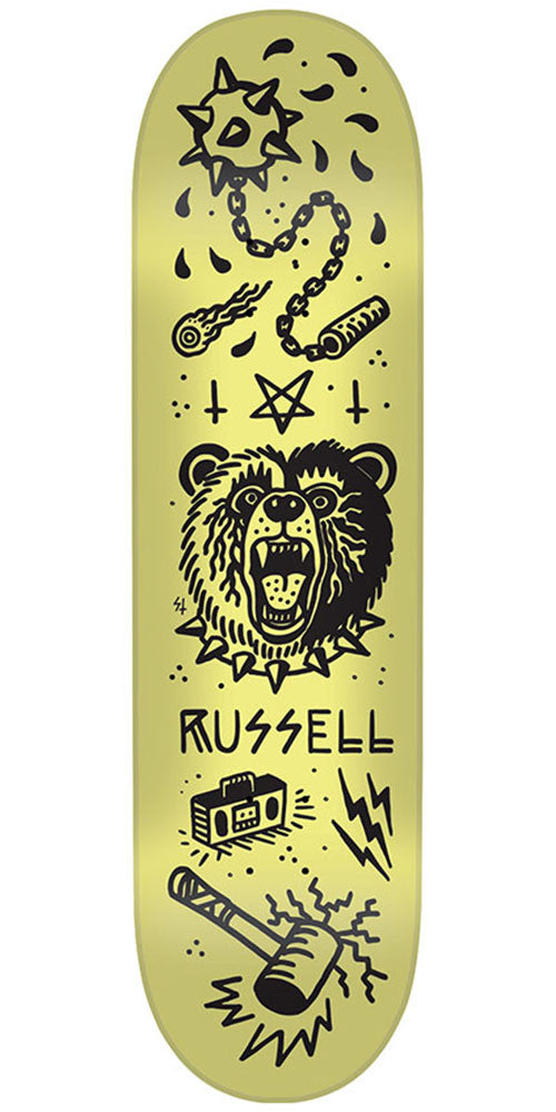 Creature Russell Tanked Pro - Yellow - 8.5in x 32.25in - Skateboard Deck