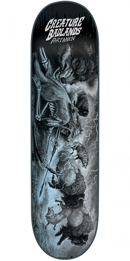 Creature Partanen Back To The Badlands - Black - 8.2in x 31.9in - Skateboard Deck
