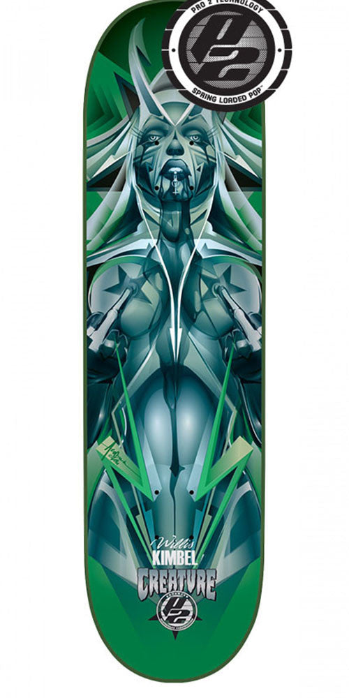 Creature Kimbel Bad Habits P2 - Green - 9.0in x 33.0in - Skateboard Deck