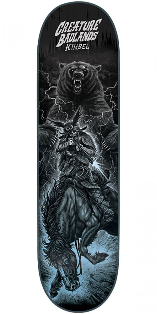 Creature Kimbel Back To The Badlands - Black - 9.0in x 33.0in - Skateboard Deck