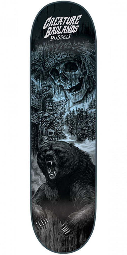Creature Russell Back To The Badlands - Black - 8.5in x 32.25in - Skateboard Deck