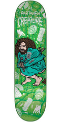 Creature Partanen Psych Ward - Green - 8.3in x 32.2in - Skateboard Deck