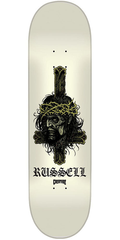 Creature Russell Holy Moley - White - 9.0in x 33.0in - Skateboard Deck