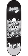 Creature Partanen Chess Board SM - Black/White - 8.3in x 32.2in - Skateboard Deck