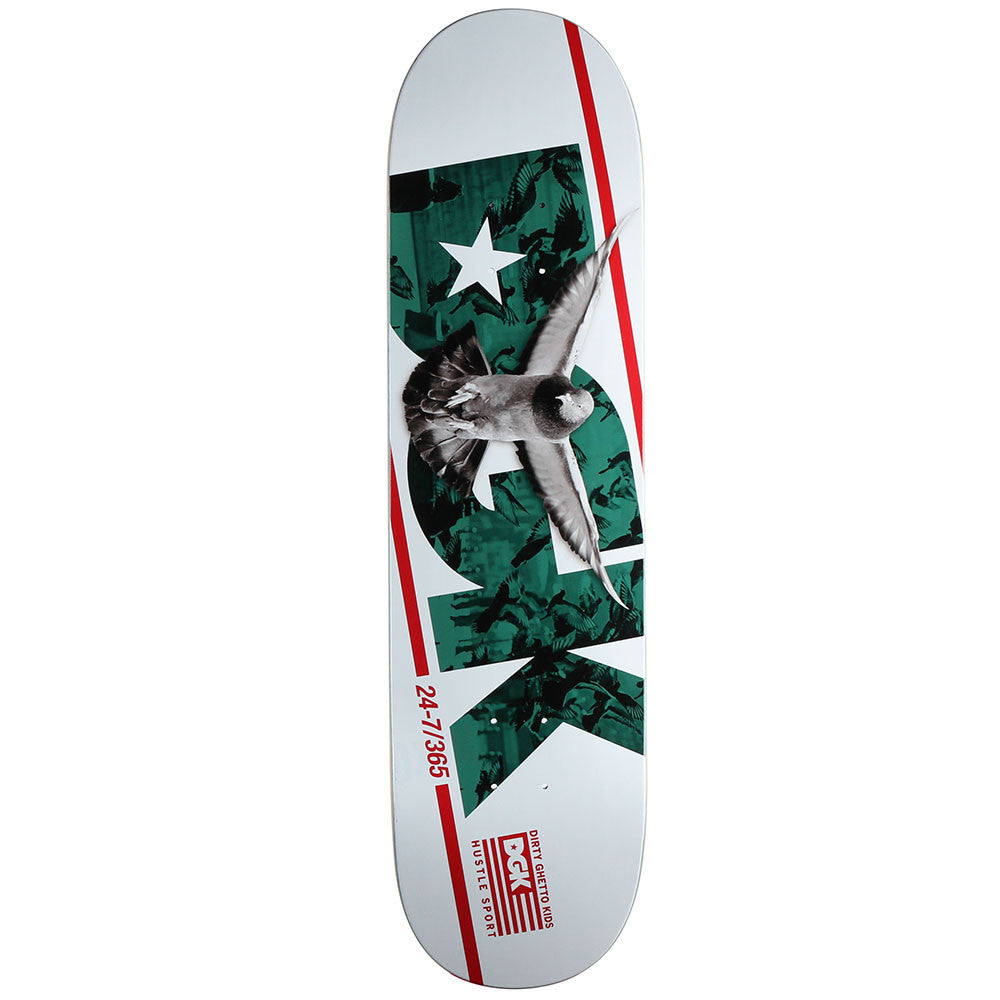 DGK Hustle Sport - White - 8.25in - Skateboard Deck